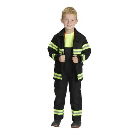 Jr Firefighter Costume (Jr. Firefighter Suit NEW YORK In Black or)