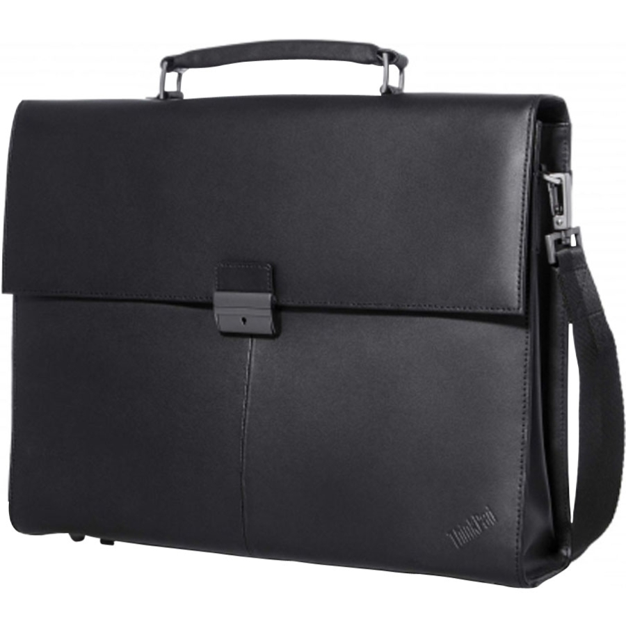 Lenovo Executive Carrying Case [attach] For Notebook - Black - Slip Resistant Shoulder Strap - Leather, Metal (4x40e77322)