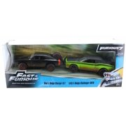 """Dom's 1970 Dodge Charger R/T Off Road and Letty's Dodge Challenger SRT8 Fast & Furious 7"""" Movie Set of 2 Cars 1/32"""