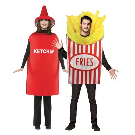 Bichon Frise Halloween Costumes (Adult French Fries and Ketchup Costume)