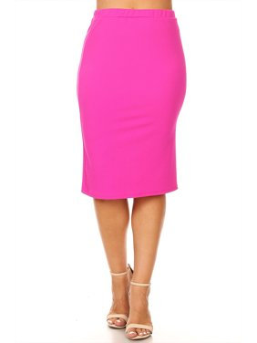 15da56f34 Product Image Plus size Women's Trendy Style Solid Pencil Skirt
