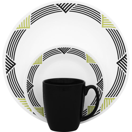 Corelle Livingware Global Stripes 16-Piece Dinnerware Set