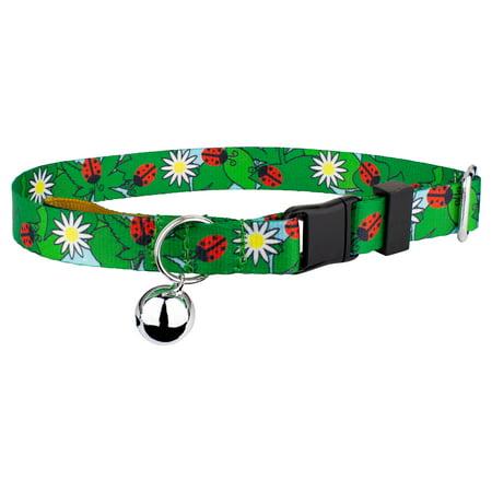Country Brook Petz   Ladybug Picnic Cat Collar