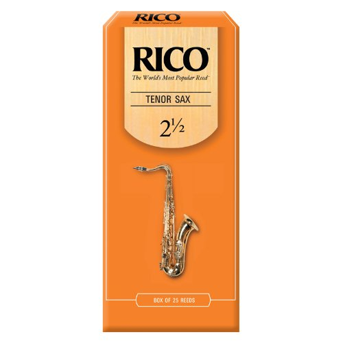Rico Tenor Sax Reeds, Strength 2.5, 25-Pack by Rico
