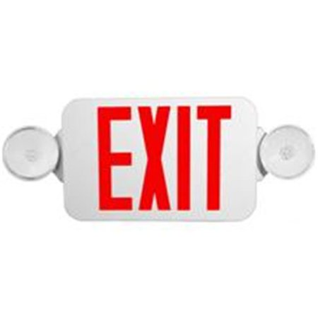 Morris Products 73040 Micro Combo Led Exit Emergency Light Red Led White Housing - image 1 of 1