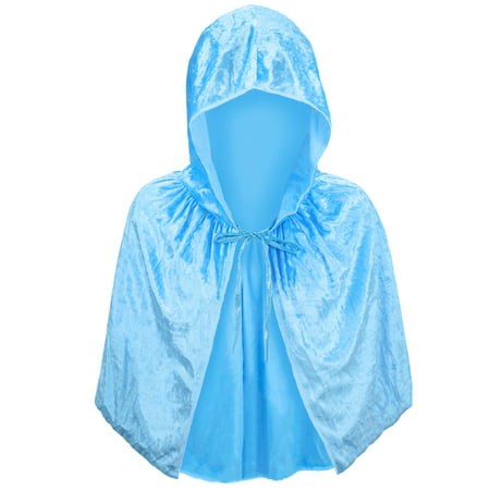 The History Of Halloween Essay (SeasonsTrading Adult Light Blue Velvet Hooded Cape Capelet - Princess FairyTale Fantasy Costume, Halloween, Elsa Cosplay, Party,)