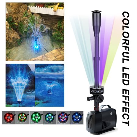 Freedo Led Fountain Submersible Pump 75w 1188gph 4500l H Water Pump With 5 Color Rgb Bulbs Blossom And Mushroom Nozzle Flow Adjustable For Aquarium Pond Fountain Fish Tank Water Hydroponic Walmart Canada