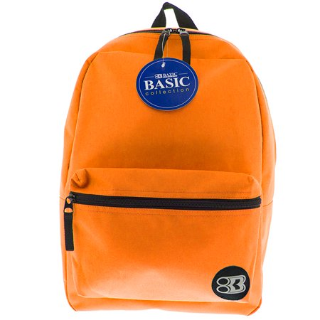 New 401325   16 Inch Orange Basic Backpack (12-Pack) Office Supply Cheap Wholesale Discount Bulk Stationery Office Supply River Stones - Backpacks Cheap Bulk