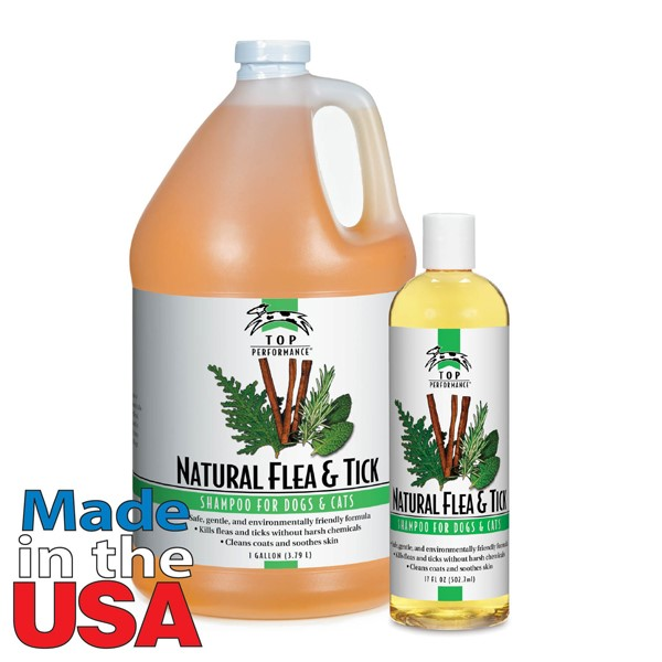 Top Performance Natural Flea&Tick Shampoo 17 Oz