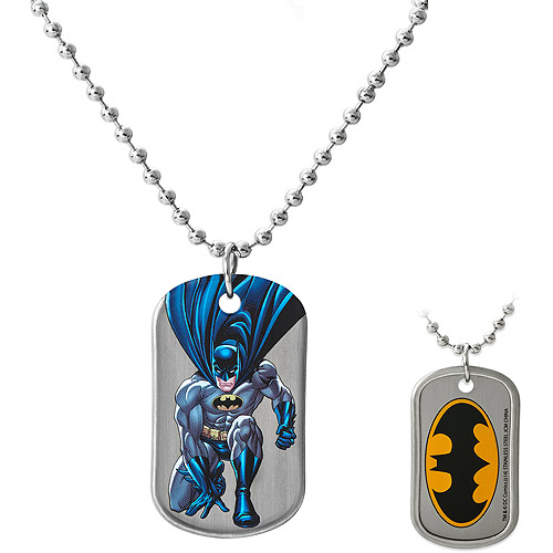 DC Comics Batman Stainless Steel Reversible Dog Tag Pendant