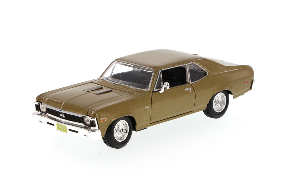 1970 Chevy Nova SS, Gold Maisto 34262 1 24 Scale Diecast Model Toy Car (Brand but NOT IN... by Maisto