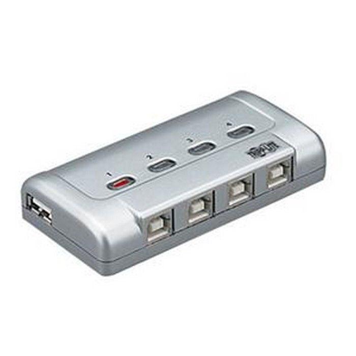 Tripp Lite U215-004-R 4-Port Usb 2.0 High Speed Printer Sharing Switch Silver