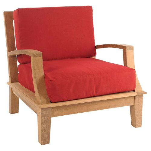 HiTeak Furniture Grande Club Patio Chair with Cushions