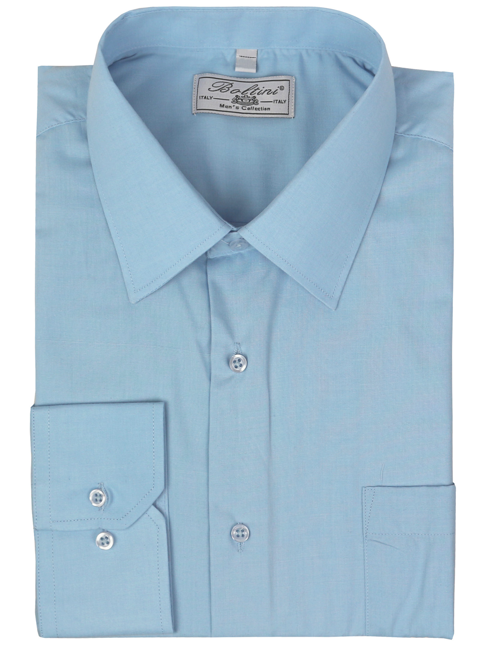 Mens Classic Solid Long Sleeve French Convertible Cuff Dress Shirt