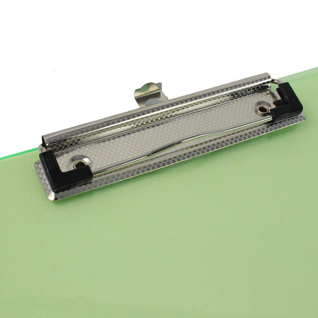 Office   A4 Paper File Note Holder Clamp Clip Board Hardboard Clear Green - image 1 of 3
