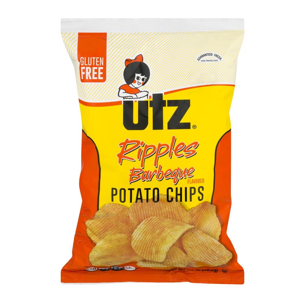 Utz Ripples Potato Chips Barbeque, 3.5 OZ