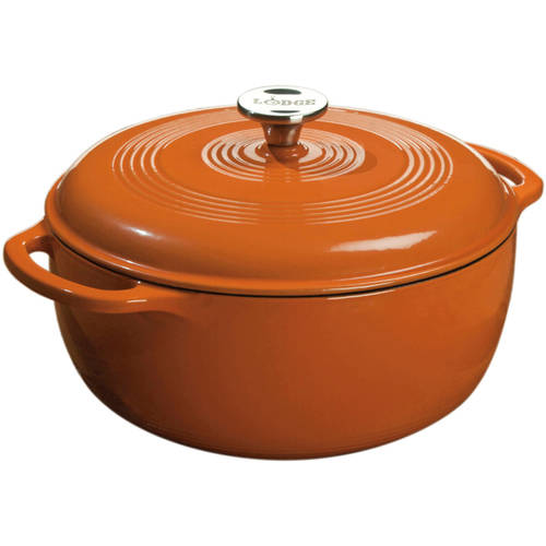 Lodge Enameled Cast Iron 6 Quart Dutch Oven, Assorted Colors