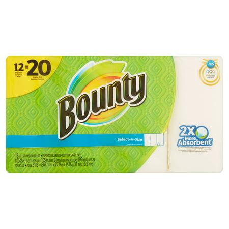 Bounty Select A Size Mega Roll Paper Towels  105 Sheets  12 Rolls