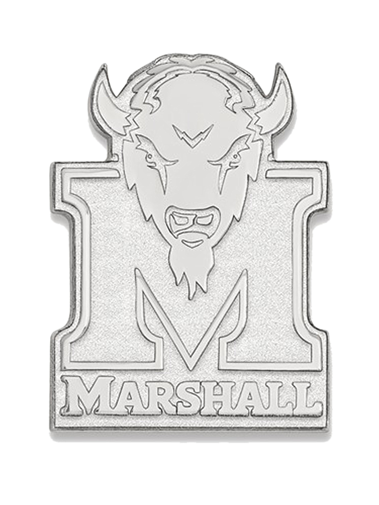Marshall University Wallet in 925 Rhodium Flashed Silver