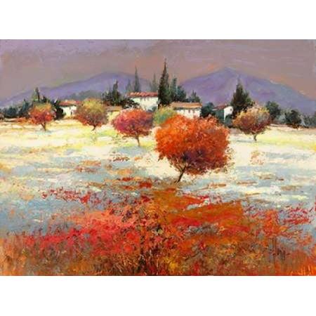Dolci colline Stretched Canvas - Luigi Florio (22 x 28)