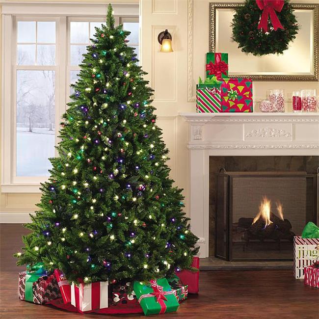 BirdDog CDT-22120M 4 ft. Pre-Lit LED Christmas Trees with Premium Douglas Fir & Spruce Hybrid, Multicolor