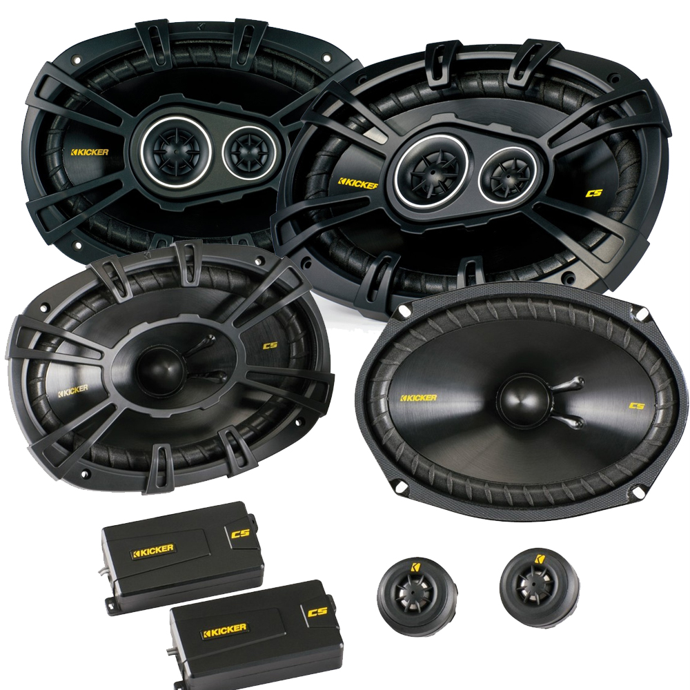 Kicker Ram Crew Cab Truck 2012 & up speaker upgrade - 2 Kicker CS 6x9 components, and 2 Kicker CS 3-way coaxial speakers