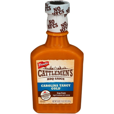 (3 Pack) Cattlemen's Carolina Tangy Gold BBQ Sauce, 18 (Best Supermarket Bbq Sauce Uk)