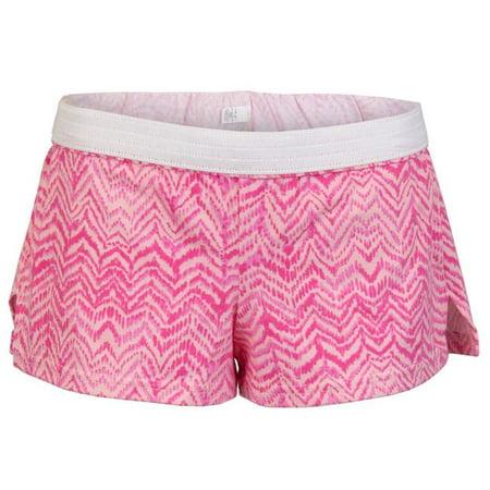 Juniors Printed Low Rise Shorts, Pink Leopard - Medium (Low Rise Short)