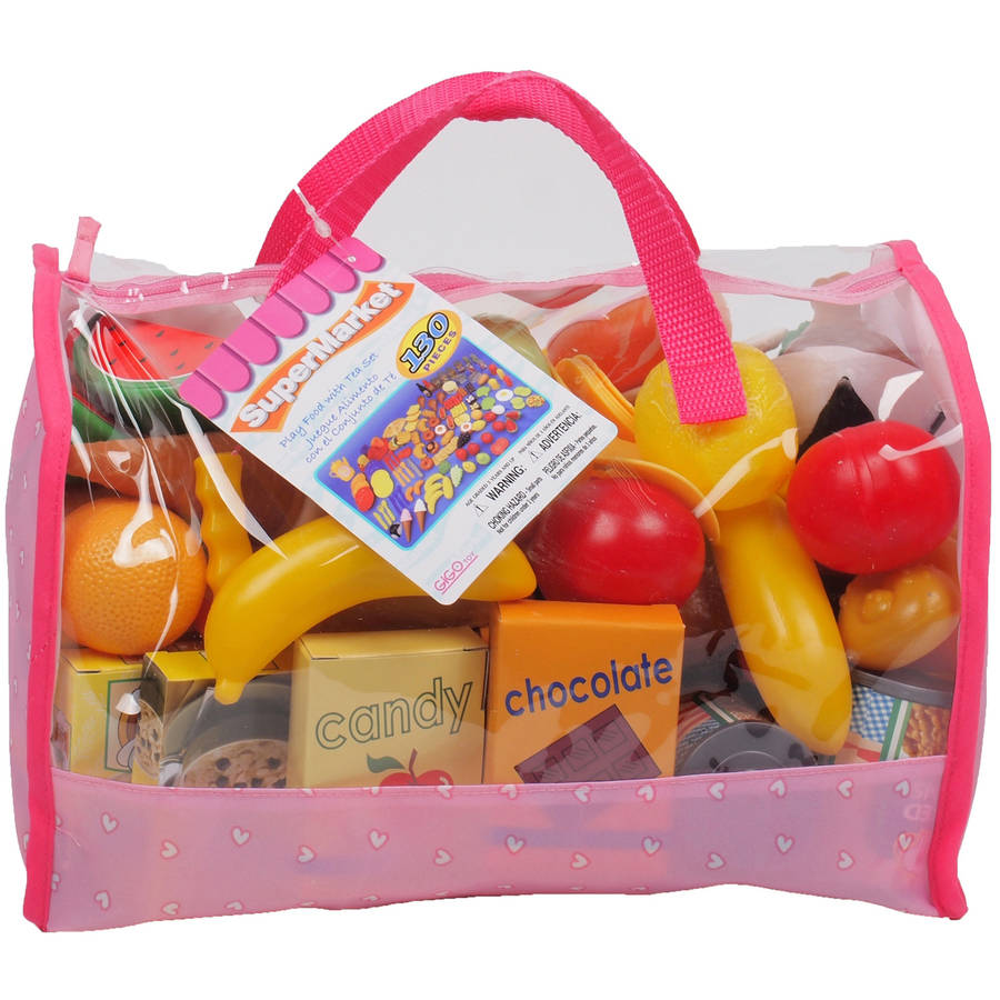 Gi-Go Toy 120-Piece Play Food in Carry Bag