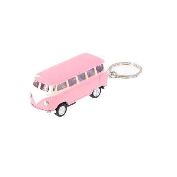 """2.5"""" Kinsmart 1962 Volkswagen Bus Diecast Toy Car Keychain"""