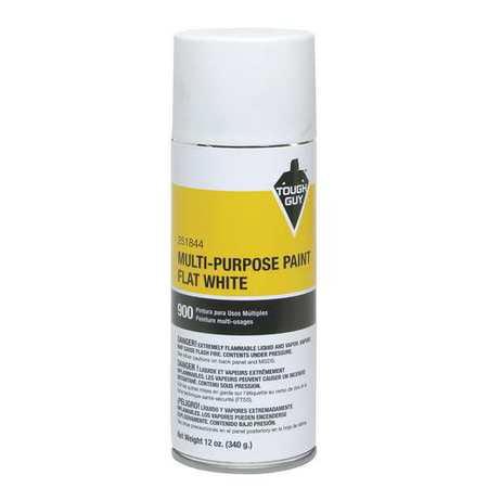 - Tough Guy 4WGD2 Flat White Spray Paint