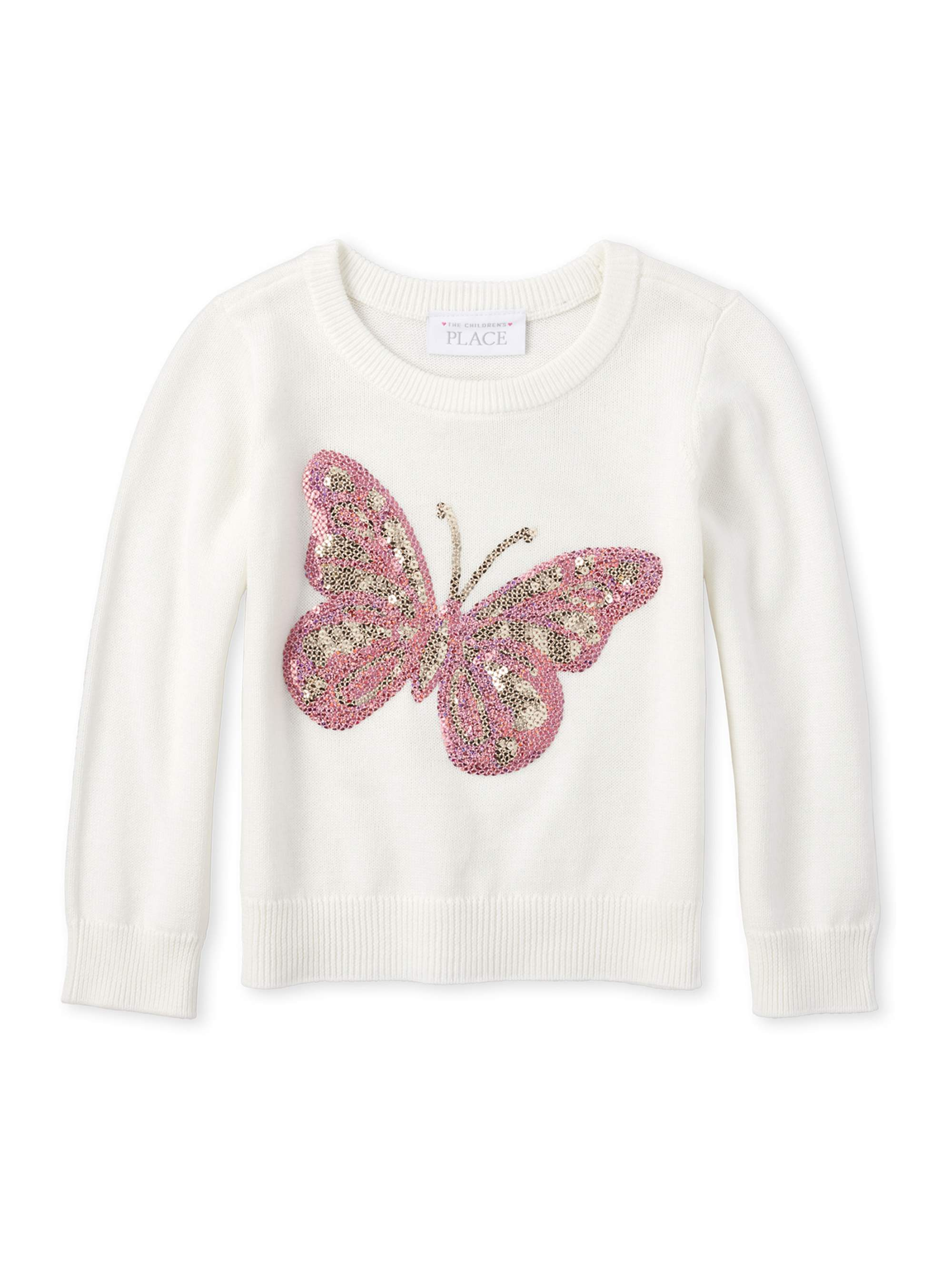 The Childrens Place Girls Toddler Graphic Sweater