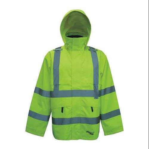 VIKING D6329JG-XXXL Rain Jacket, Class 3, Trilobal, Green, 3XL ...