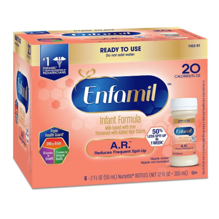 Enfamil A.R. Infant Formula - Clinically Proven to reduce Spit-Up in 1 week - Ready to Use Nursette Bottles, 2 fl oz (48