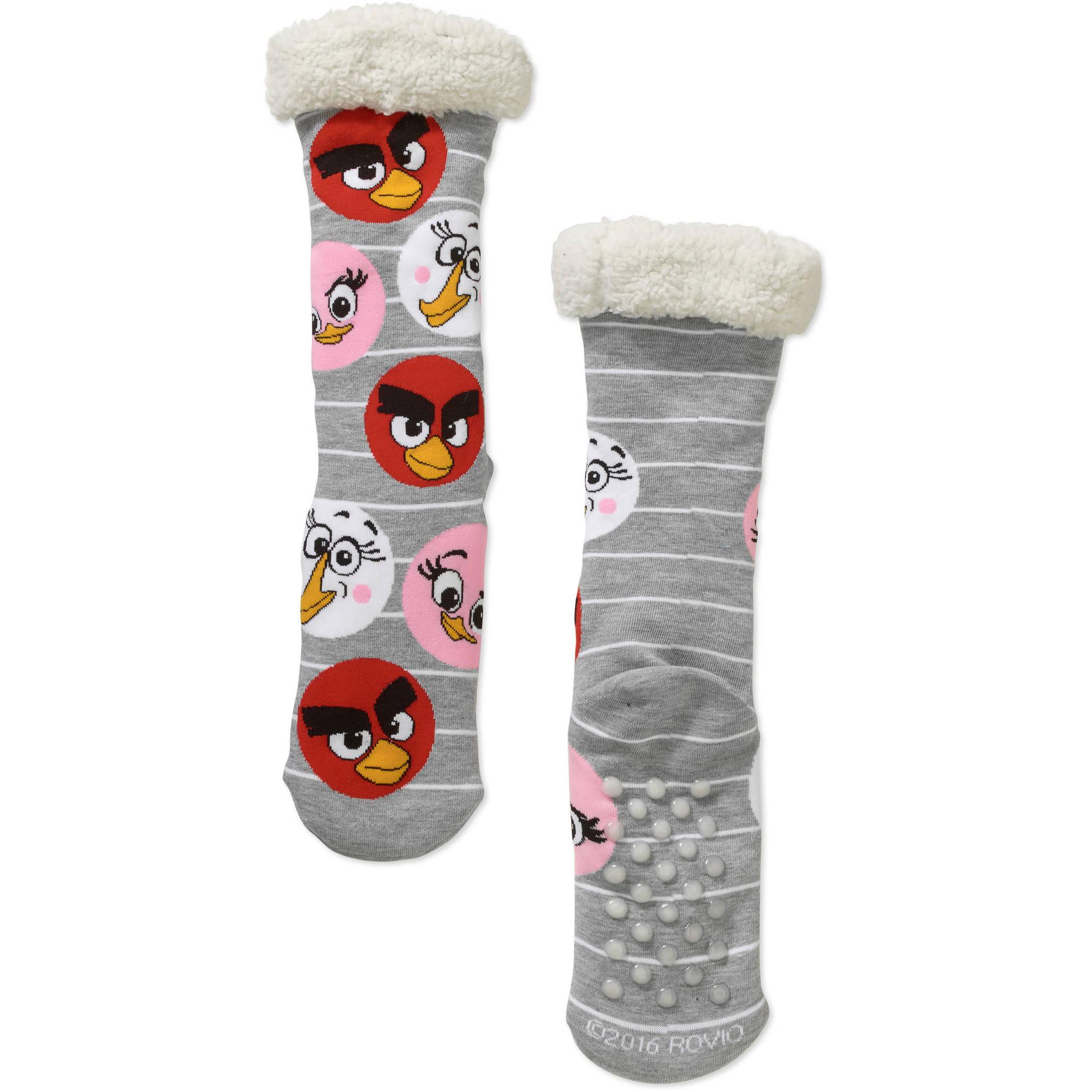 FuzzSox Angry Birds Knit Crew Socks