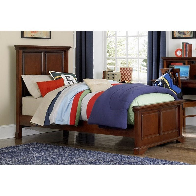 NE Kids Walnut Street Devon Twin Panel Bed in Chestnut