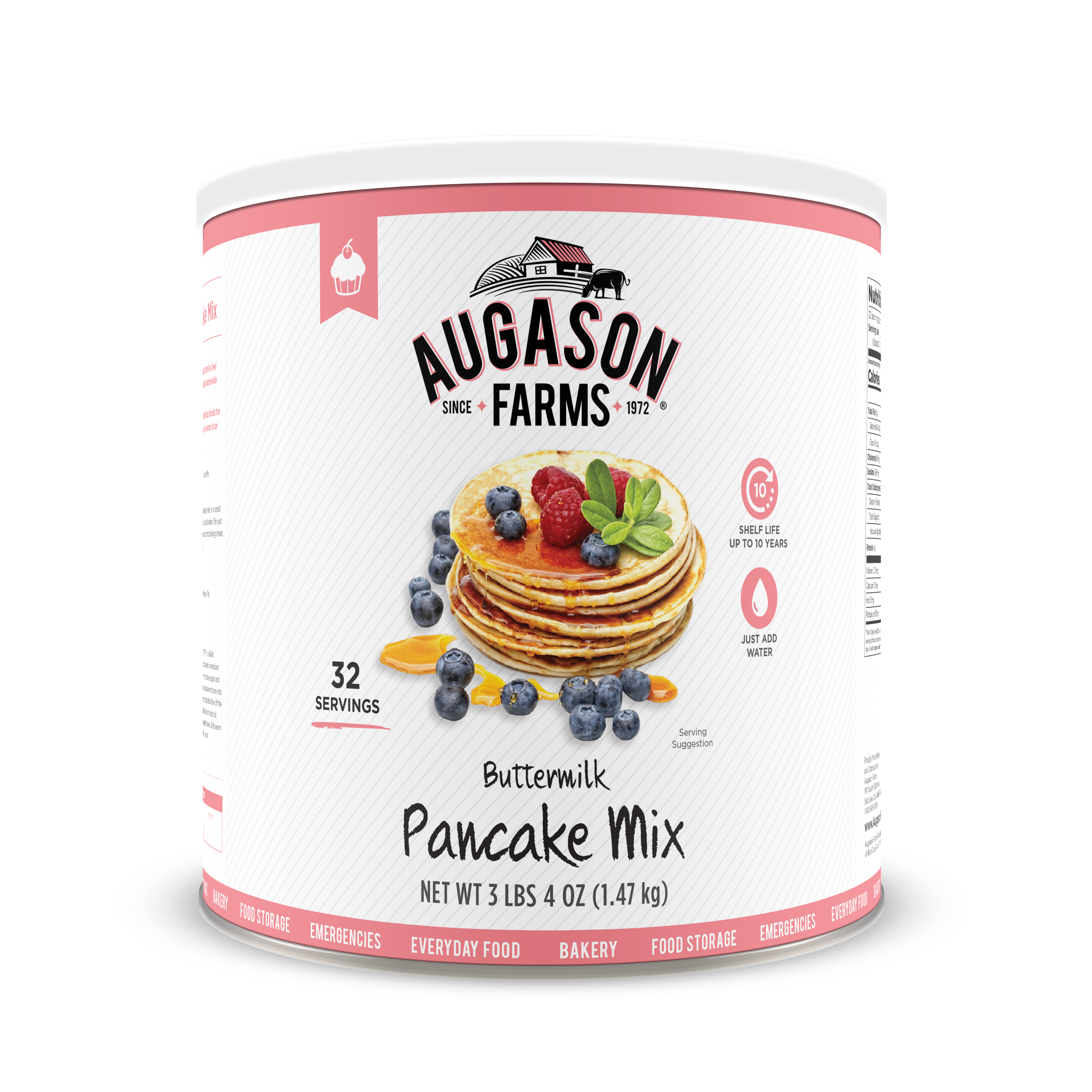 Augason Farms Buttermilk Pancake Mix 3 lbs 4 oz No. 10 Can by Blue Chip Group