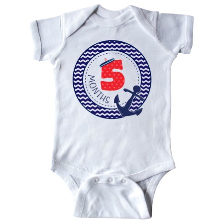 Five Month Old Nautical Anchor Boy Birthday Infant