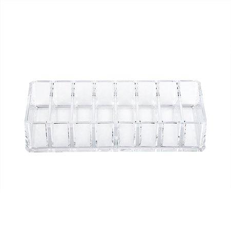 Ejoyous 8 Grid Transparent Acrylic Larger Compact Organizer Power Eyebrow Powder Holder Store Box , Larger Compact Organizer, Powder Holder - image 1 of 6