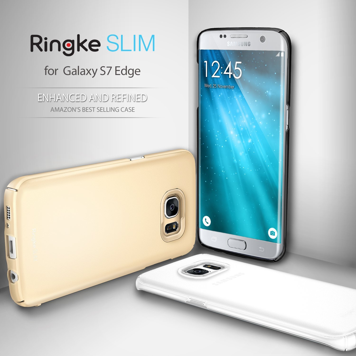 Samsung Galaxy S7 Edge Ringke Slimroyal Gold Snug Fit Ultra Thin Baby Skin Hard Case For Black All Coverage