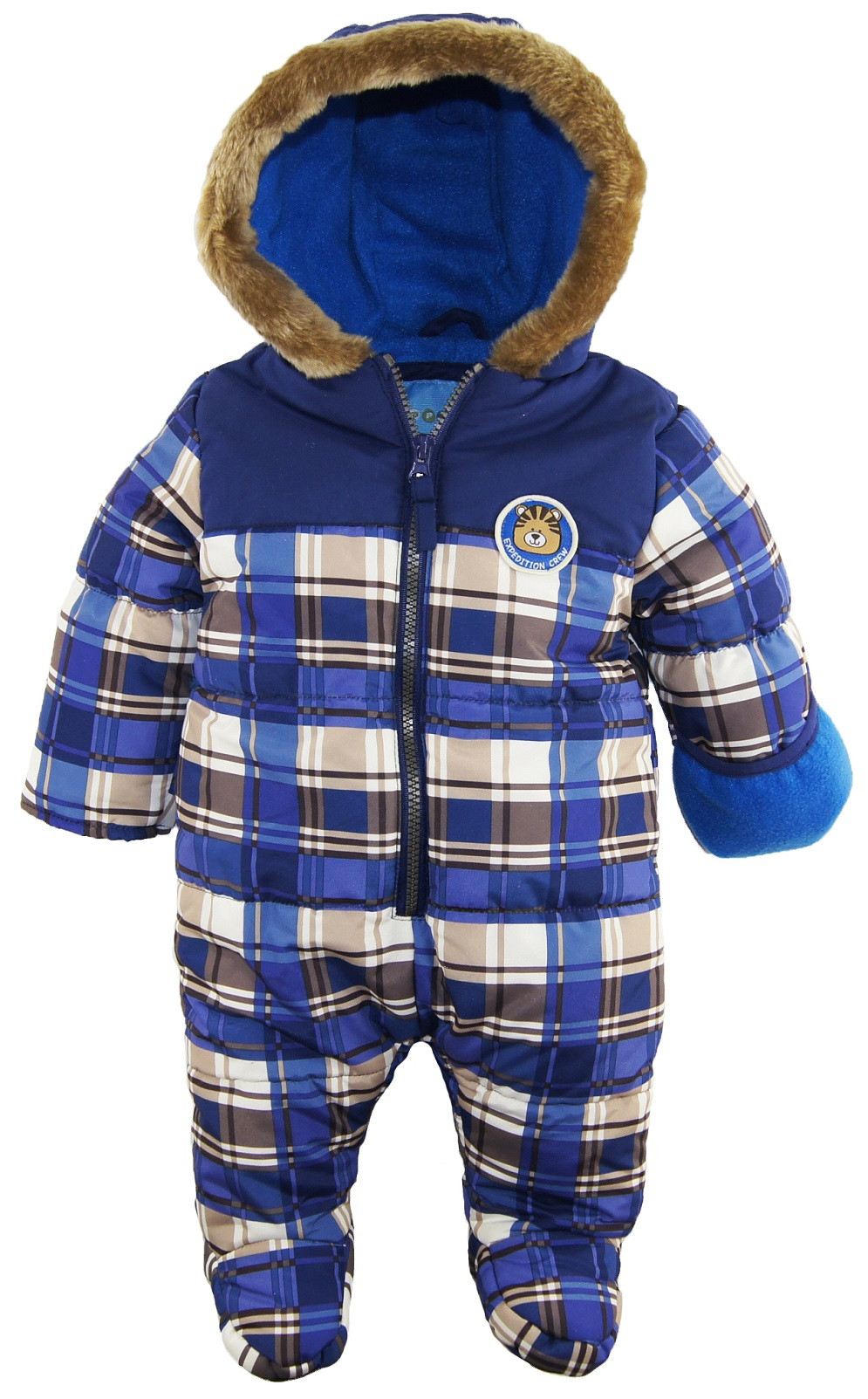 b9fb1d5c8fc8 Wippette Baby Boys  Teddy Bear Microfiber Footed 1-Piece Puffer ...