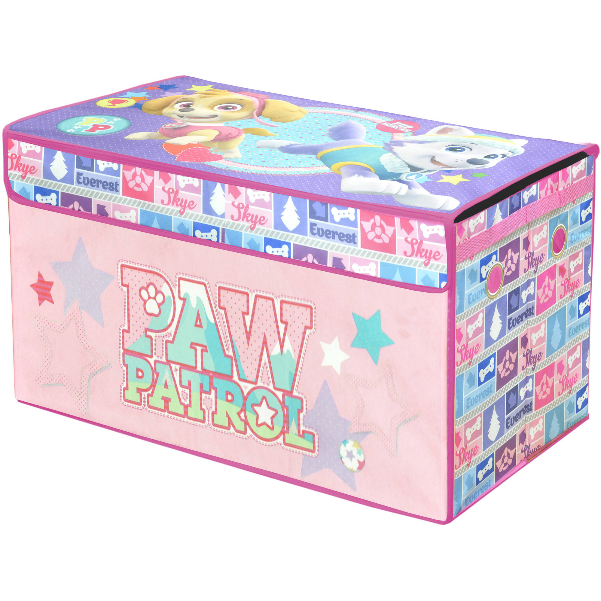 Nickelodeon Paw Patrol Girls Oversized Soft Collapsible Storage Toy Trunk