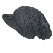 CTM®  Womens Throwback Chunky Knit Slouchy Beanie Hat