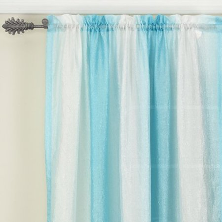 Your Zone Crushed Ombre Curtain Panel Summer Sky