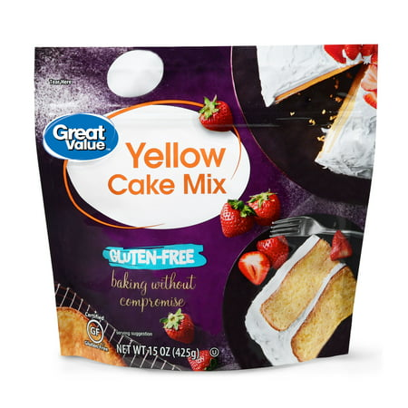 (3 Pack) Great Value Gluten-Free Yellow Cake Mix, 15