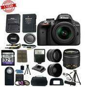 Nikon D3300 Digital SLR Camera w/18-55mm AF-P DX Lens Wide Angle&Telephoto Lens Tripod Camera Case 32GB Card Wireless Remote Deluxe Bundle