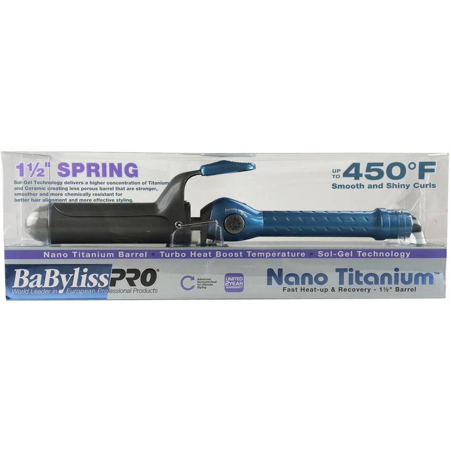 "Babyliss Pro Nano Titanium 11/2"" Barrel Curling Iron"