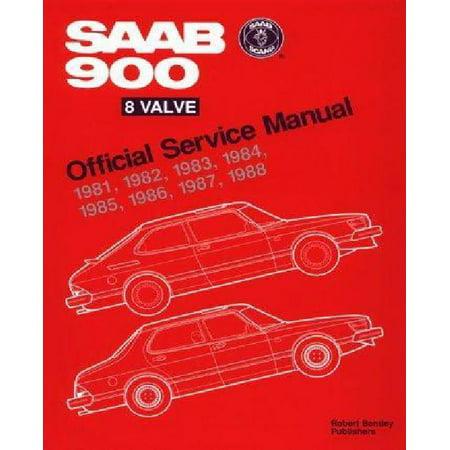 Saab 900 8 Valve Official Service Manual  1981 1988