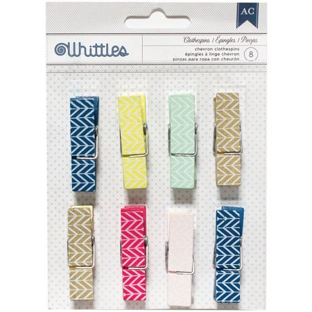 Designer Desktop Essentials Clothespins, 8pk