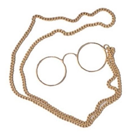Pince-nez Old Time Victorian Reading Spectacles 1800's Glasses Monocle Chain